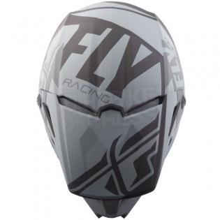 2018 Fly Racing Kids Elite Helmet - Guild Matte Grey Black Image 2