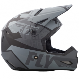 2018 Fly Racing Kids Elite Helmet - Guild Matte Grey Black Image 3