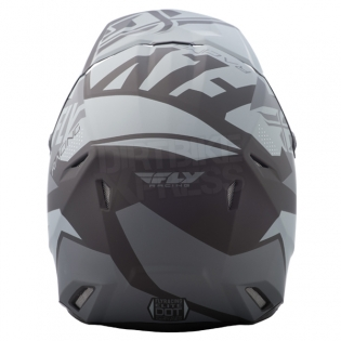 2018 Fly Racing Kids Elite Helmet - Guild Matte Grey Black Image 4