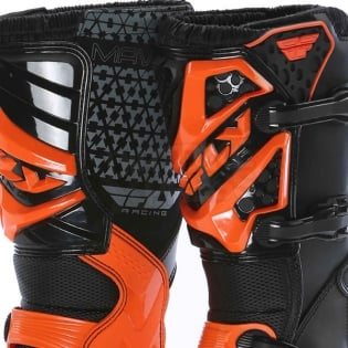 2018 Fly Racing Maverik MX Boots - Black Orange Image 2