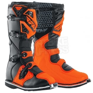 2018 Fly Racing Maverik MX Boots - Black Orange Image 3