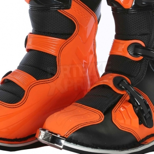 2018 Fly Racing Maverik MX Boots - Black Orange Image 4