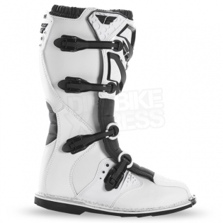 2018 Fly Racing Maverik MX Boots - White Image 2