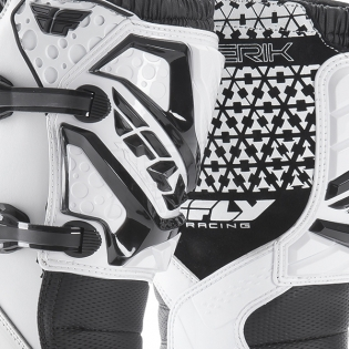 2018 Fly Racing Maverik MX Boots - White Image 3