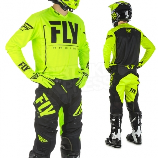 2018 Fly Racing Lite Hydrogen Kit Combo - Black Hi Viz Image 2