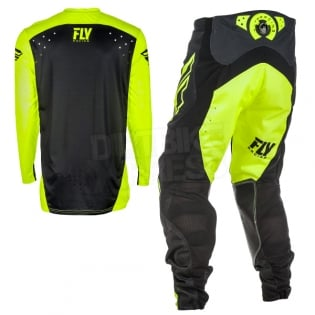 2018 Fly Racing Lite Hydrogen Kit Combo - Black Hi Viz Image 4