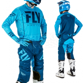 2018 Fly Racing Lite Hydrogen Kit Combo - Blue Navy Image 2