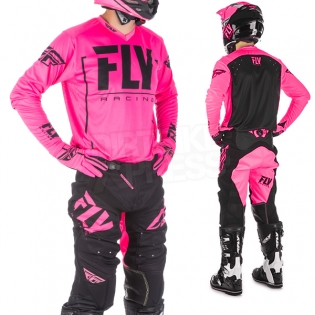 2018 Fly Racing Lite Hydrogen Kit Combo - Neon Pink Black Image 2