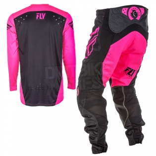 2018 Fly Racing Lite Hydrogen Kit Combo - Neon Pink Black Image 4