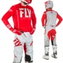 2018 Fly Racing Lite Hydrogen Kit Combo - Red Grey