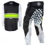 2018 Fly Racing Kinetic Kit Combo - Era Black White Hi Viz
