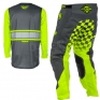 2018 Fly Racing Kinetic Kit Combo - Era Grey Hi Viz
