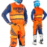 2018 Fly Racing Kinetic Kit Combo - Era Orange Navy