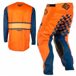 2018 Fly Racing Kinetic Kit Combo - Era Orange Navy Image 4