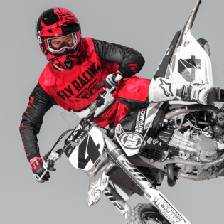 2018 Fly Racing Kinetic Kit Combo - Era Red Black Image 3