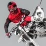 2018 Fly Racing Kinetic Kit Combo - Era Red Black