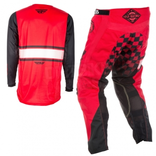 2018 Fly Racing Kinetic Kit Combo - Era Red Black Image 4