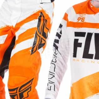 2018 Fly Racing F16 Kit Combo - Orange White Image 3