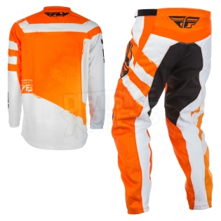 2018 Fly Racing F16 Kit Combo - Orange White Image 4