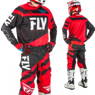 2018 Fly Racing F16 Kit Combo - Red Black Image 2