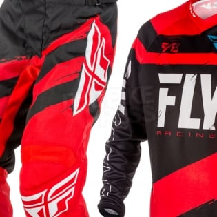 2018 Fly Racing F16 Kit Combo - Red Black Image 3