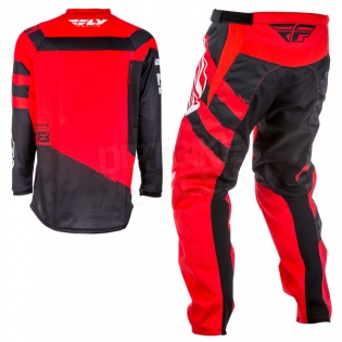2018 Fly Racing F16 Kit Combo - Red Black Image 4