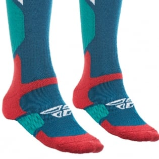 Fly Racing MX Pro Thick Socks - Blue Red Image 2