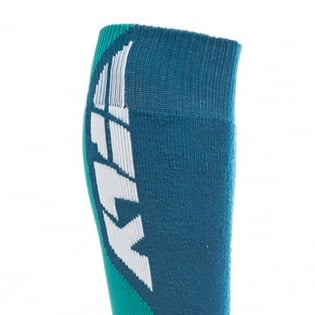 Fly Racing MX Pro Thick Socks - Blue Red Image 3