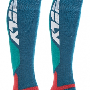Fly Racing MX Pro Thick Socks - Blue Red Image 4