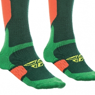 Fly Racing MX Pro Thick Socks - Green Orange Image 2