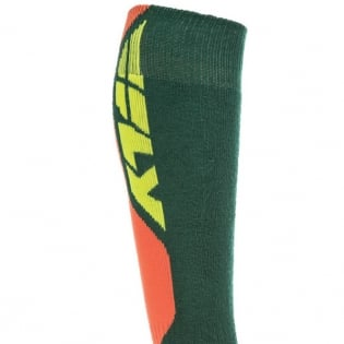 Fly Racing MX Pro Thick Socks - Green Orange Image 3