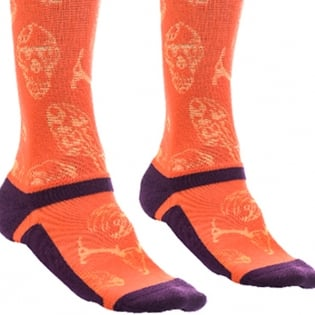 Fly Racing MX Pro Thin Socks - Orange Purple Image 2