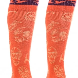 Fly Racing MX Pro Thin Socks - Orange Purple Image 4