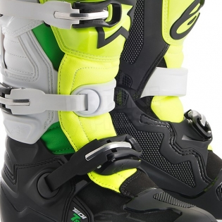 Alpinestars Kids Boots Tech 7S - LE Prodigy Black White Flo Green Image 3