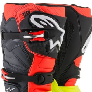Alpinestars Tech 7 Boots - Flo Yellow Flo Red Grey Black Image 2