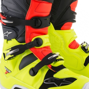 Alpinestars Tech 7 Boots - Flo Yellow Flo Red Grey Black Image 4