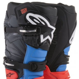 Alpinestars Tech 7 Boots - Flo Red Cyan Grey Black Image 2