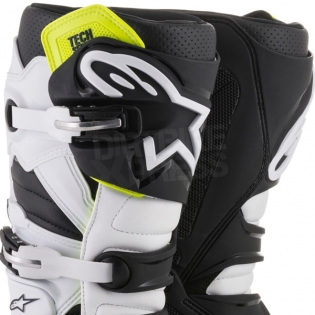 Alpinestars Tech 7 Boots - Flo Yellow White Black Image 2