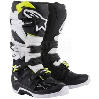 Alpinestars Tech 7 Boots - Flo Yellow White Black Image 3
