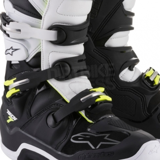 Alpinestars Tech 7 Boots - Flo Yellow White Black Image 4