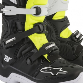 Alpinestars Tech 5 Boots - Black White Fluo Yellow Image 2