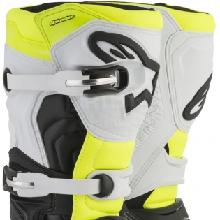 Alpinestars Tech 5 Boots - Black White Fluo Yellow Image 4