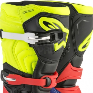 Alpinestars Tech 5 Boots - Blue Black Fluo Yellow Red Image 2