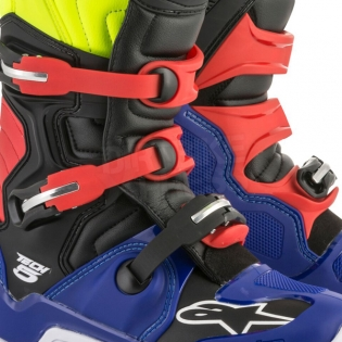 Alpinestars Tech 5 Boots - Blue Black Fluo Yellow Red Image 4
