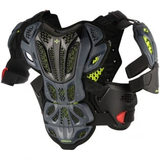Alpinestars A10 Full Chest Protector - Anthracite Black Red Image 3