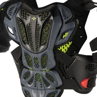 Alpinestars A10 Full Chest Protector - Anthracite Black Red Image 4
