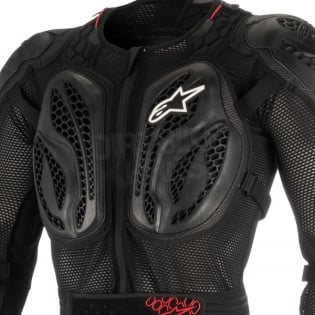 Alpinestars Bionic Action BNS Protection Jacket - Black Red Image 2