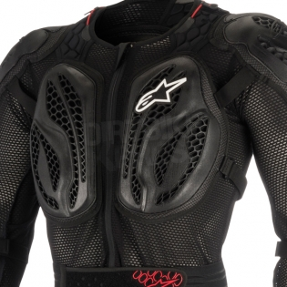 Alpinestars Kids Bionic Action Protection Jacket - Black Red Image 2