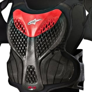 Alpinestars Kids A5 Body Armour - Black Red Image 2