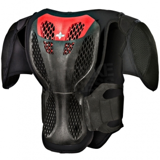 Alpinestars Kids A5 Body Armour - Black Red Image 3